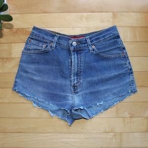 Custom Levi's 512 denim shorts